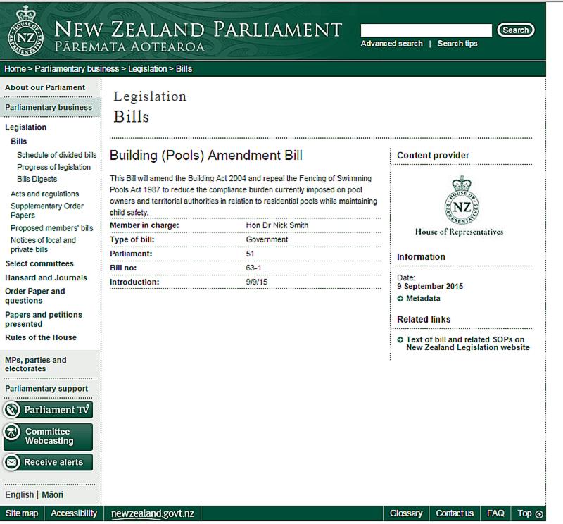 Members area for Swimming pool fencing regulations sa